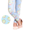 Girls Egg Wreath Dot Initial Arden Leggings
