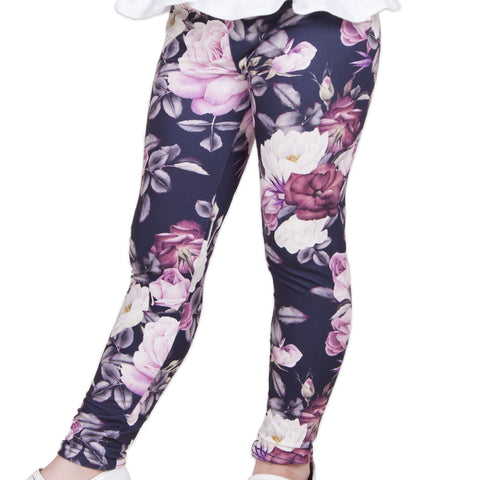 Girls Floral Bouquet Mila Leggings