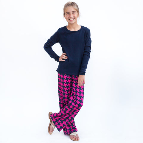 Girls Houndstooth Mila Palazzo Pant
