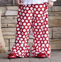 Girls Red Dot Minky Pant