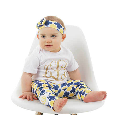 Quatrefoil Initial Ireland Leggings