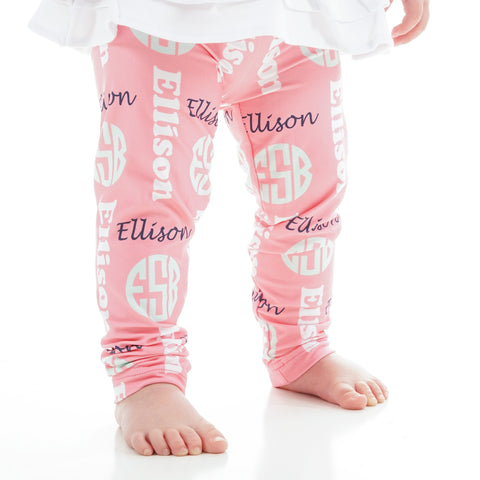 Baby Girls Name & Initials Ireland Leggings