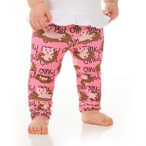 Baby Girls Farm Pig Ireland Leggings