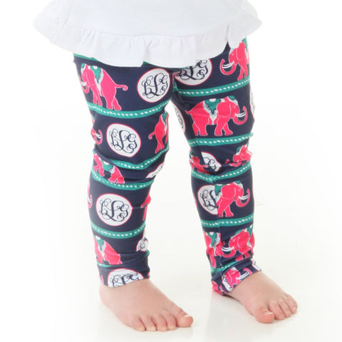Baby Girls Elephant Initials Ireland Leggings