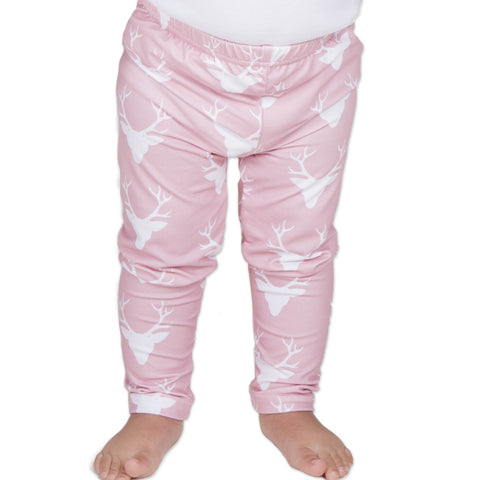 Baby Girls Pink Deer Ireland Leggings