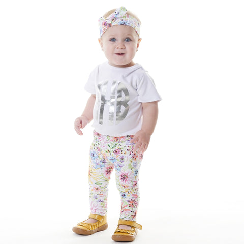 Baby Girls Floral Ireland Leggings