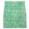 Teal Floral Allie Band Skirt