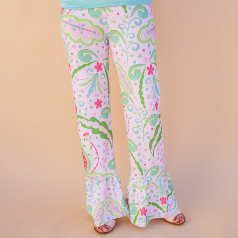 Ladies Floral Ruffle Pant