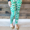 Ladies Green Abstract Arden Leggings