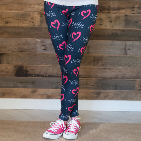 Ladies Custom I Love Arden Leggings