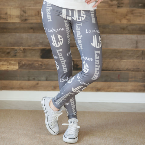 Ladies Name & Initial Arden Leggings