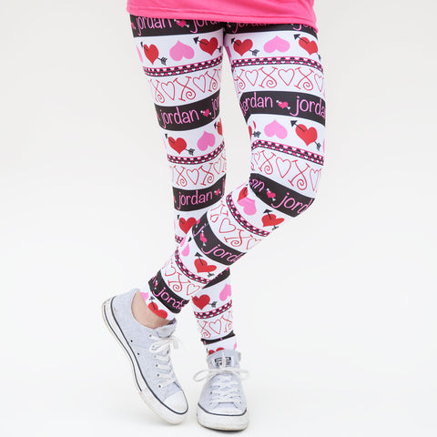 Ladies Heart Name Arden Leggings