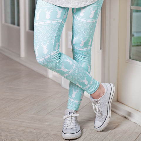 Ladies Aztec Deer Arden Leggings