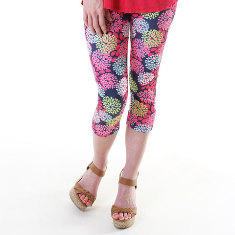 Ladies Flower Arden Capri Leggings