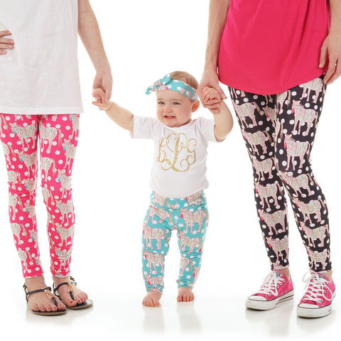 Baby Girls Zebra Dot Ireland Leggings