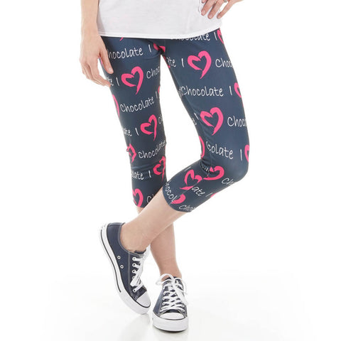 Ladies Custom I Love Arden Capri Leggings