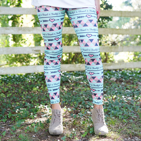 Ladies Thankful Blessed Arden Leggings