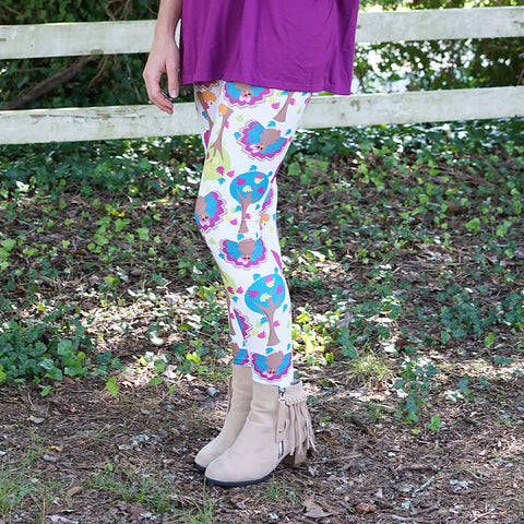 Ladies Turkey Tree Toss Arden Leggings