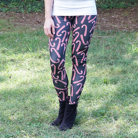 Ladies Candy Cane Toss Arden Leggings