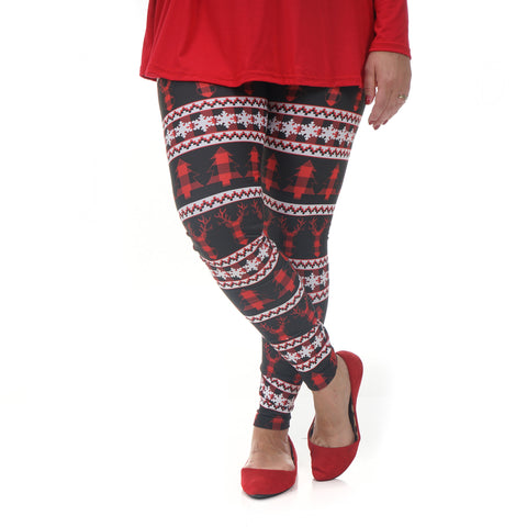 Ladies Country Christmas Deer Arden Leggings