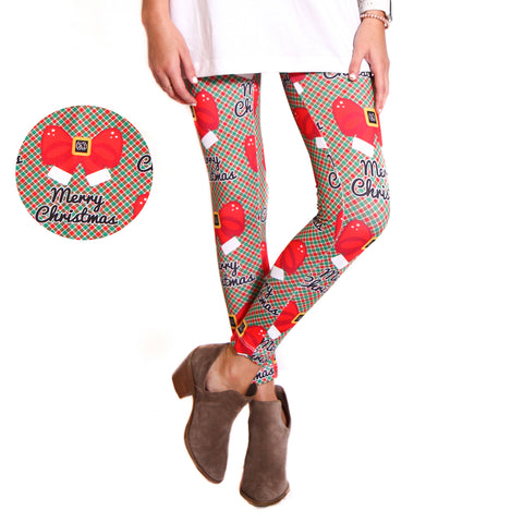 Ladies Christmas Checkers Initials Arden Leggings