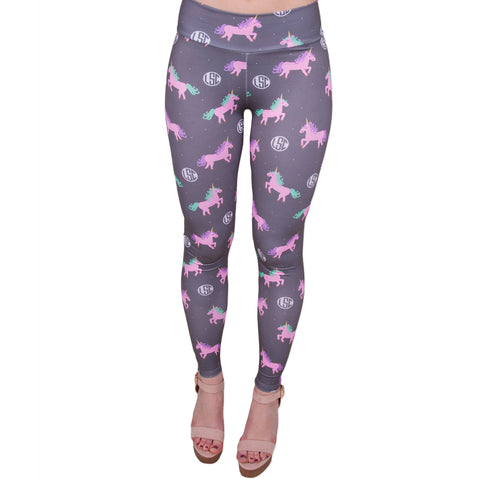 Ladies Unicorn Monogram Arden Leggings