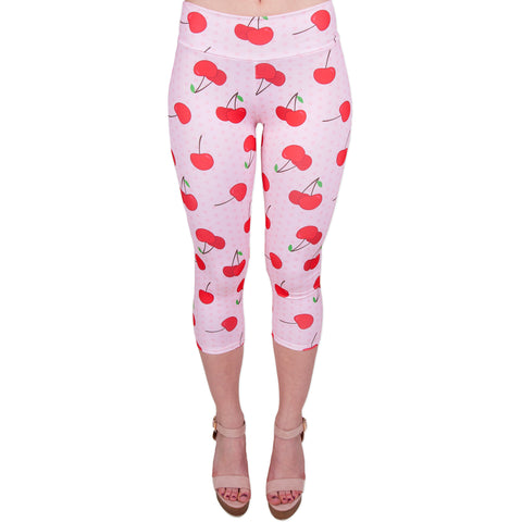Ladies Cherry Dots Leggings