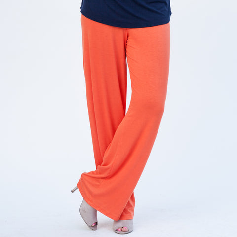 Ladies Orange Palazzo Pant