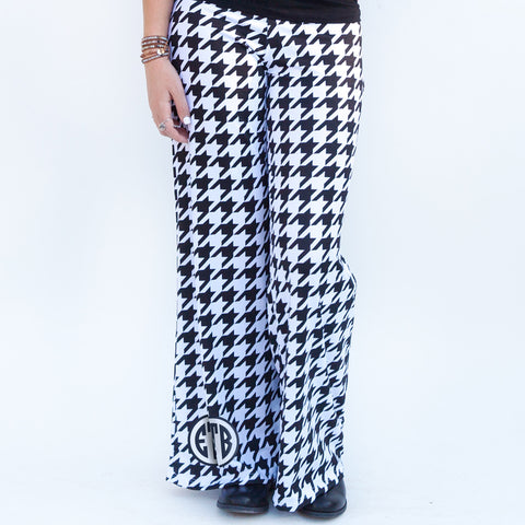 Black Houndstooth Palazzo Pants