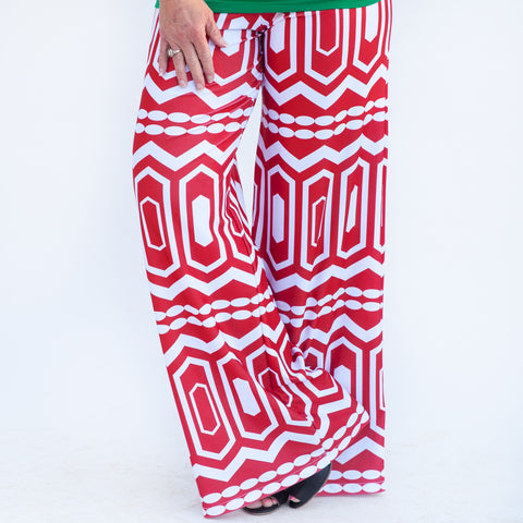 Ladies Abstract Palazzo Pants