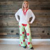 Ladies Christmas Pineapple Palazzo Pants