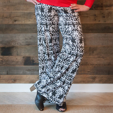 Ladies Damask Palazzo Pants