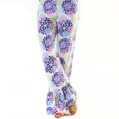 Spring Floral Ruffle Pant