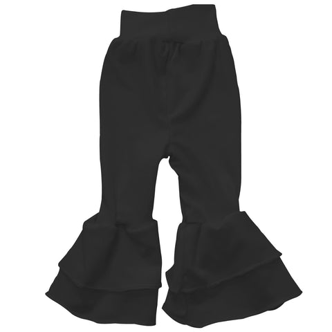 Baby Girls Black Ruffle Leggings