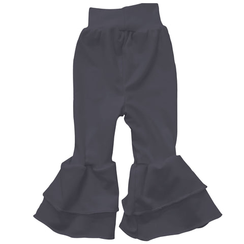 Baby Girls Charcoal Ruffle Leggings
