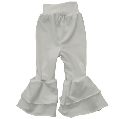 Baby Girls Gray Ruffle Leggings