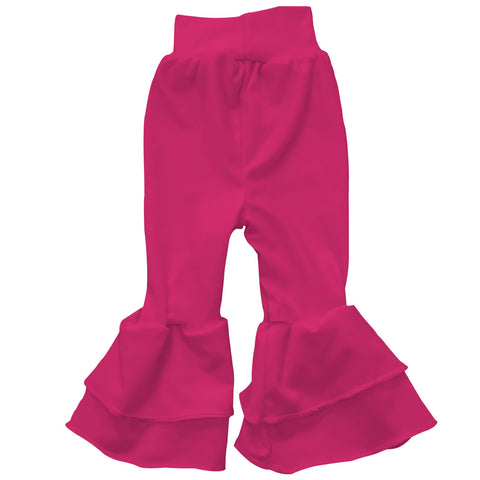 Baby Girls Hot Pink Ruffle Leggings