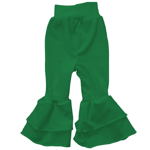 Baby Girls Green Ruffle Leggings