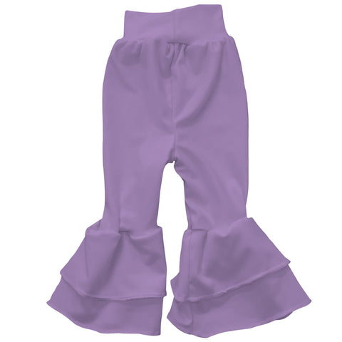 Baby Girls Lilac Ruffle Leggings