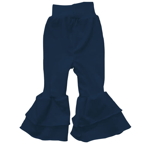 Baby Girls Navy Ruffle Leggings