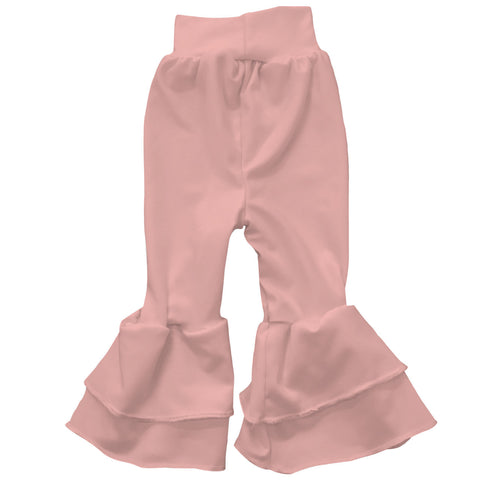 Baby Girls Peach Ruffle Leggings