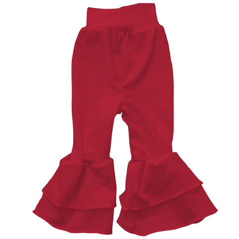 Baby Girls Red Ruffle Leggings