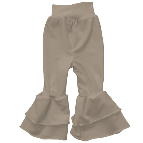 Baby Girls Taupe Ruffle Leggings