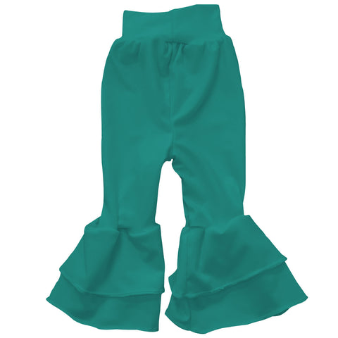 Baby Girls Teal Ruffle Leggings