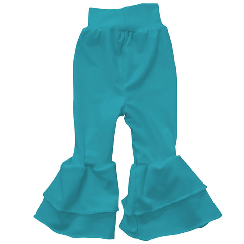Baby Girls Turquoise Ruffle Leggings