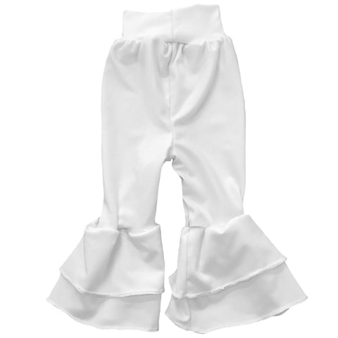 Baby Girls White Ruffle Leggings