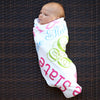 Baby Girls Light Pink Name Blanket