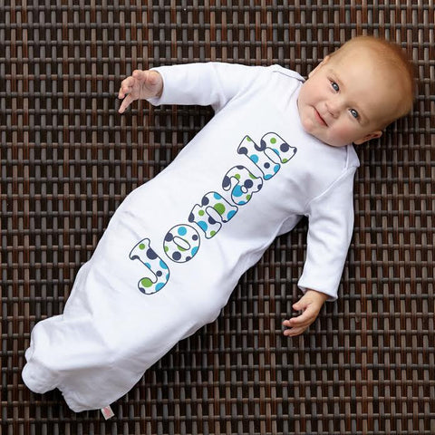 Multi Dot Name Layette