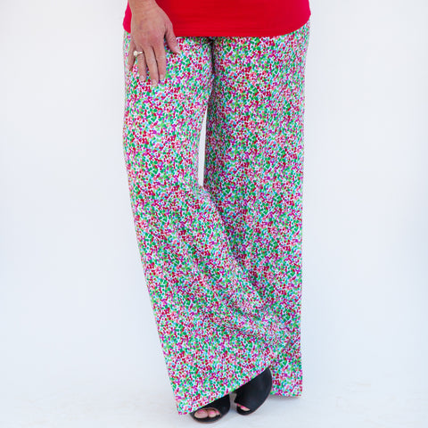 Ladies Dot Palazzo Pants