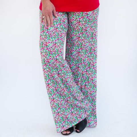 Ladies Christmas Dot Palazzo Pants